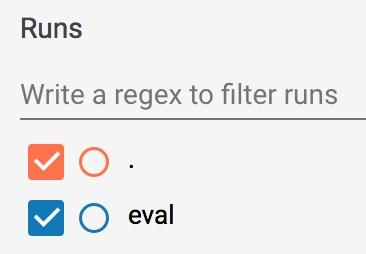 允许用户选择显示哪些运行的复选框。