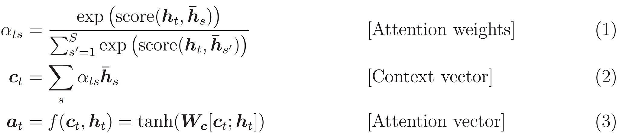 equazione dell'attenzione 0