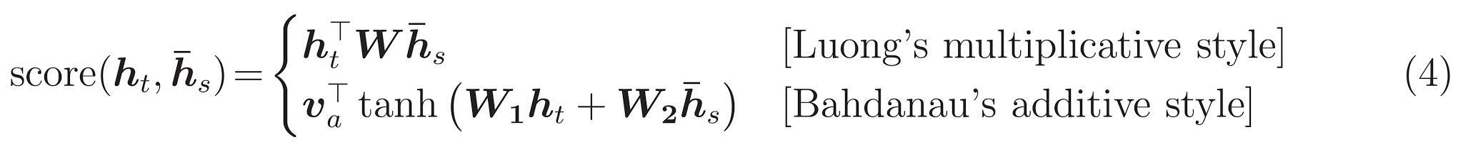 equazione dell'attenzione 1