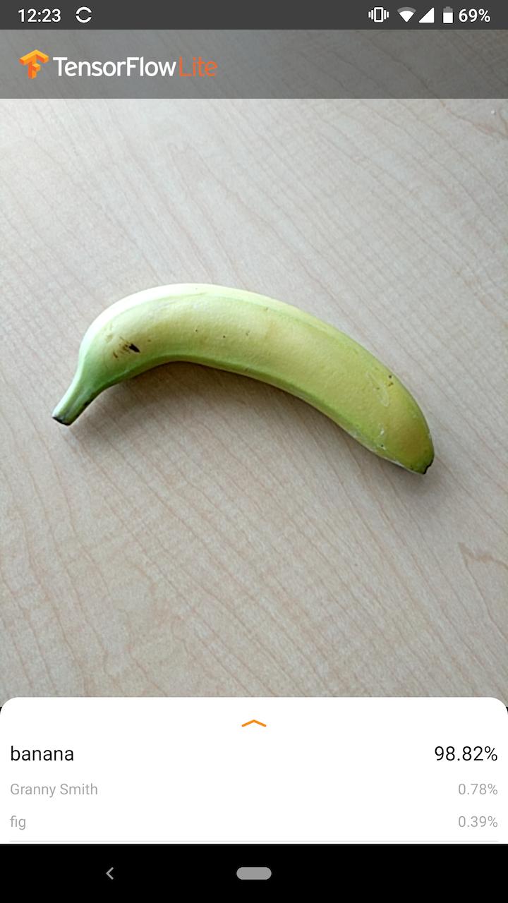 Screenshot des Android-Beispiels